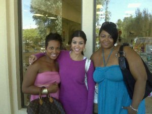 Jalonda, Kourtney, and Mashonda in Calabasa, California
