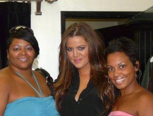 Jalonda, Khloe Kardashian, and Mashonda (my BFF)
