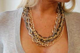 Metal chain necklace $45