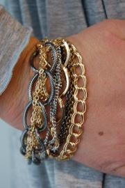 Metal chain bracelet $19