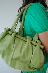 Handbag with Braided handle, $65- www.joeyeric.com