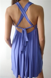 Bella dress with criss-cross straps