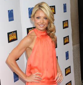Kelly Ripa, coral top