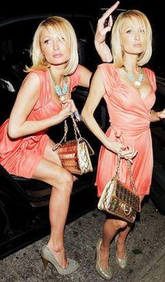 Paris Hilton, coral & turquoise
