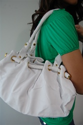 Handbag with Braided handles, $65- www.joeyeric.com