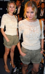 Diane Kruger was spotted soaking up the fashion at Mercedes-Benz Berlin Fashion Week in Berlin, Germany.