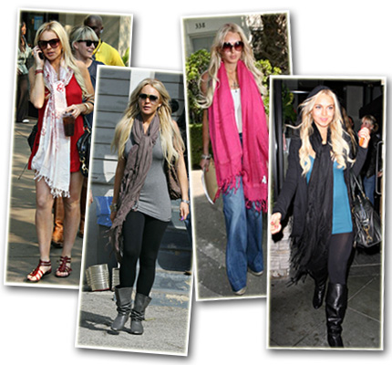 Celebs know that the easiest way to create a standout look is by rocking a hot scarf!